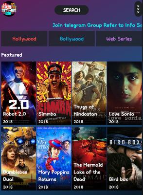 ScreenShot of Movie Time Apk