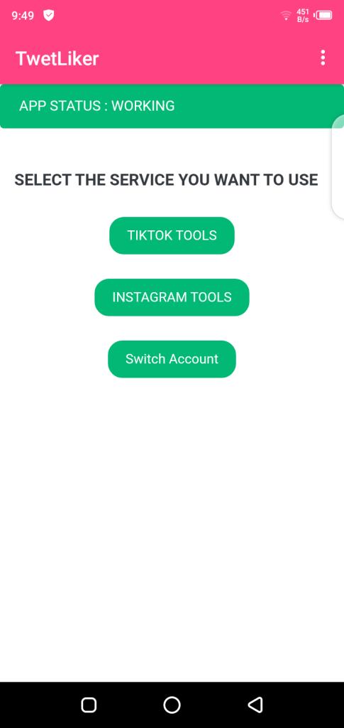 Screenshot of FireLiker App
