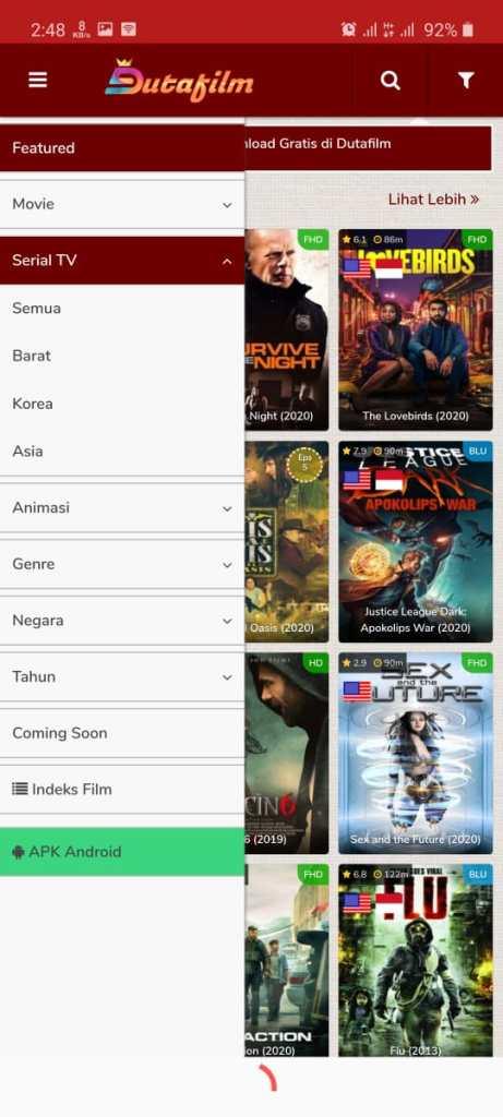 ScreenShot of Dutafilm.Apk