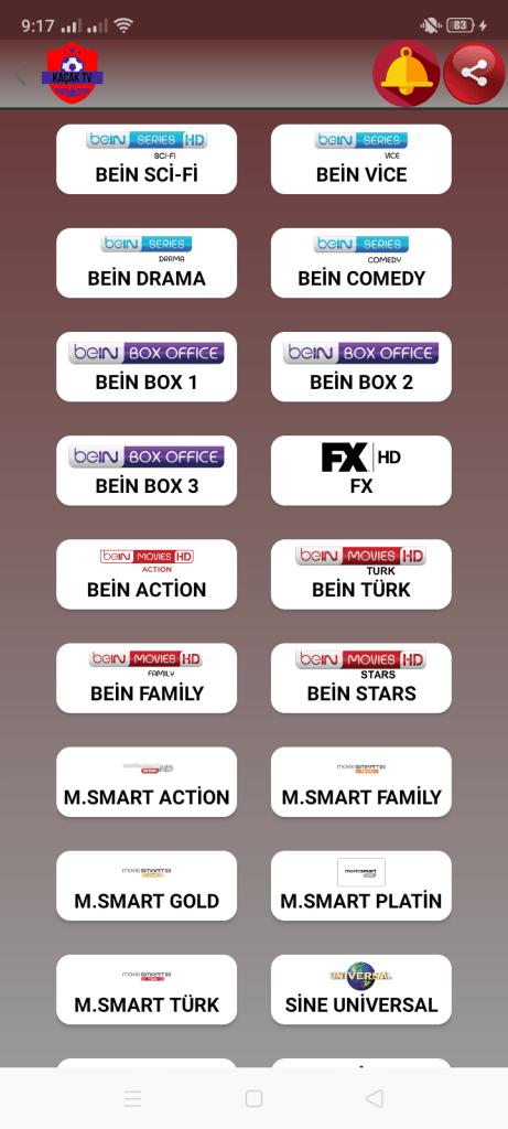 Screenshot of Kacak TV Apk