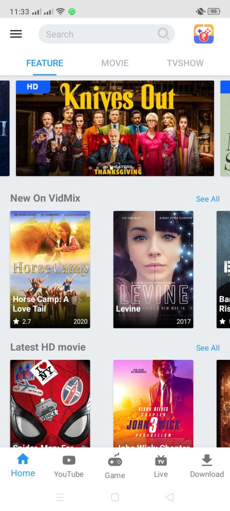 Screenshot of VidMix