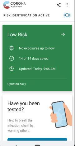 Screenshot of Cornona Warn App APK