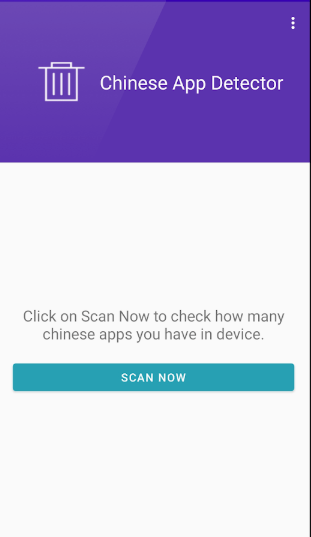 Screenshot of Chinese App Detector APK App