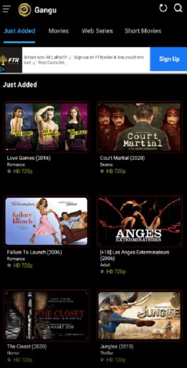 Screenshot of Gangu App APK