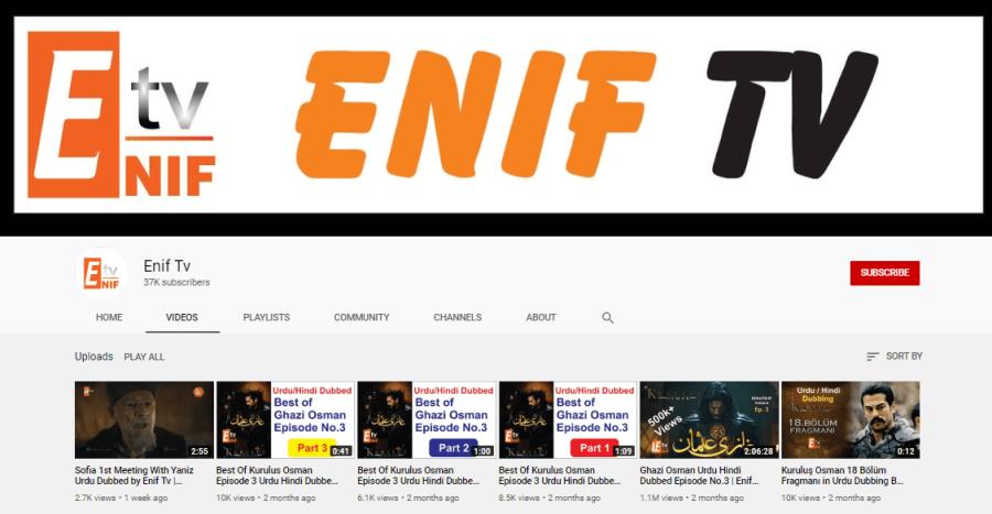 Enif TV Turkish Dramas in Hindi and Urdu
