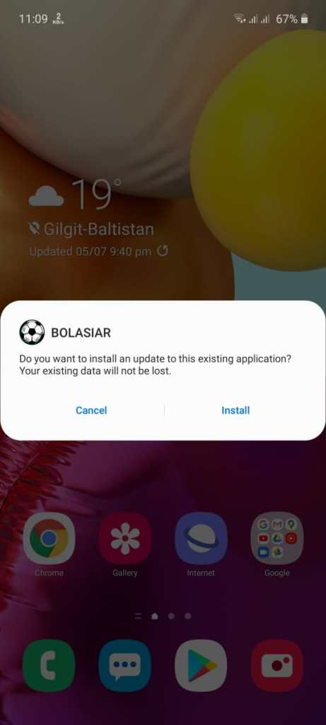 Screenshot of Bolasiar Apk