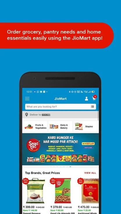 Screenshot of JioMart Apk