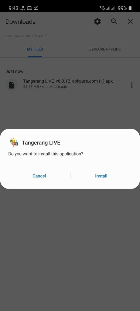Screenshot of Tangerang Live Apk