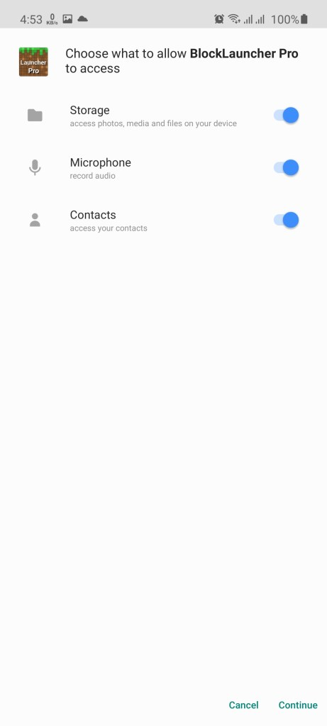 Screenshot of BlockLauncher Pro