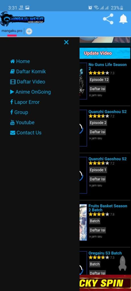 Screenshot of MangaKu.Pro App