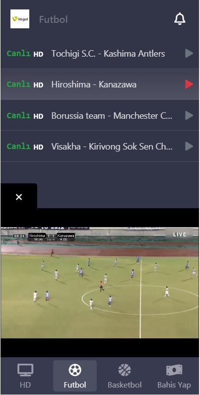 Screenshot of Vegol TV For Android