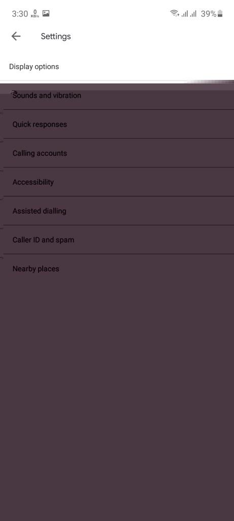 Screenshot of Verified Calls By Google App