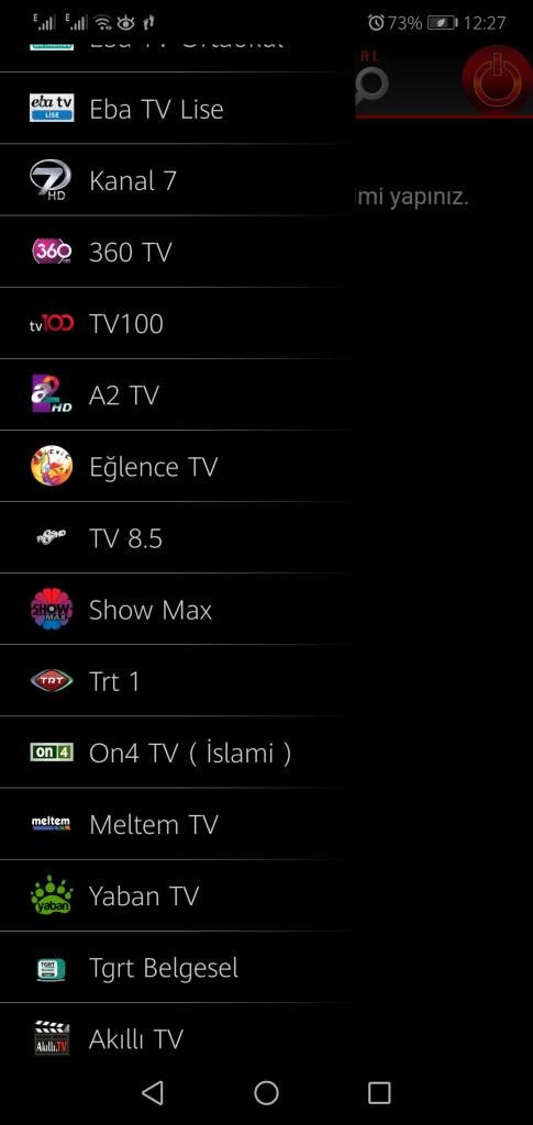 Screenshot of CEP TV App