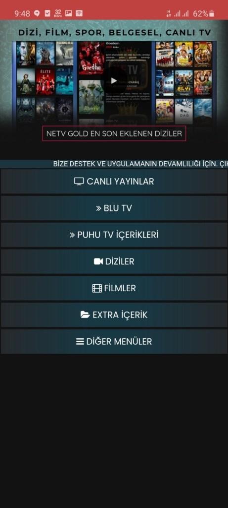 Screenshot of NeTv Gold