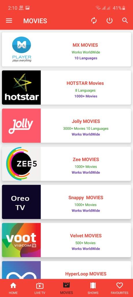 Screenshot of Oreo TV Apk IPL 2020