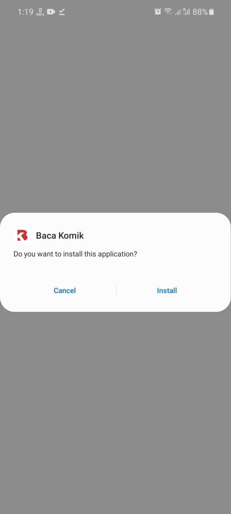 Screenshot of Baca Komik