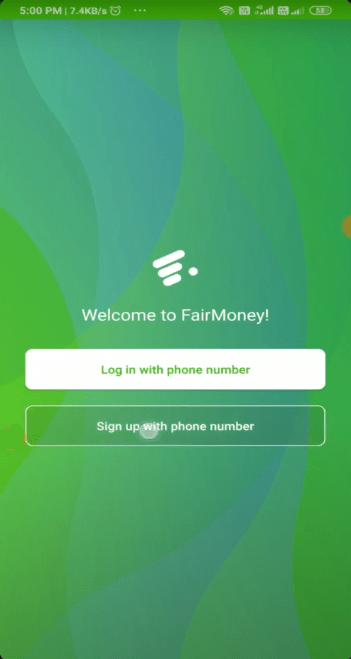 Screenshot of Fairmoney Apk