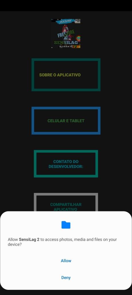 Screenshot of Sensilag 2 App