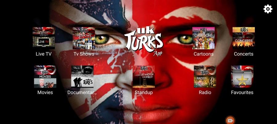 Screenshot of UK Turks App