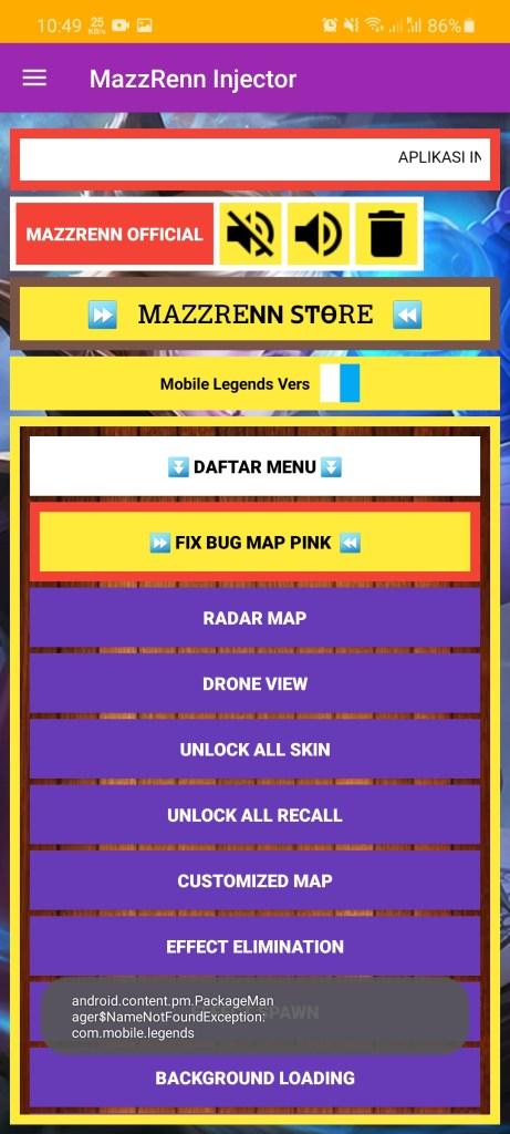 Screenshot of Mazzrenn Injector Apk