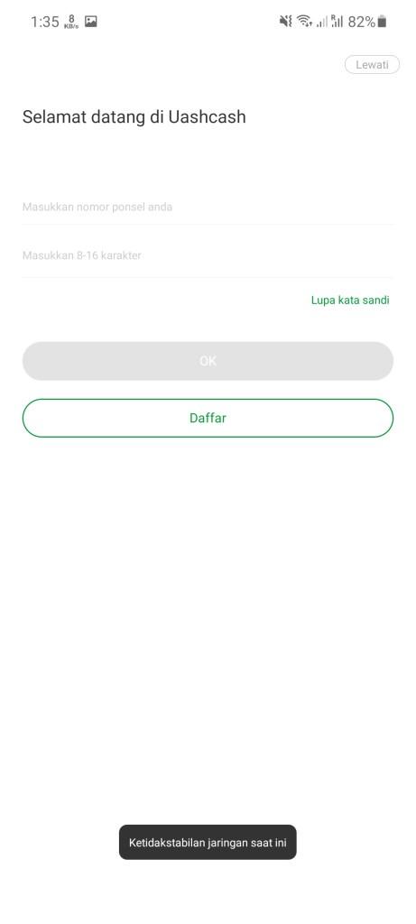 Screenshot of Dana Mudah App