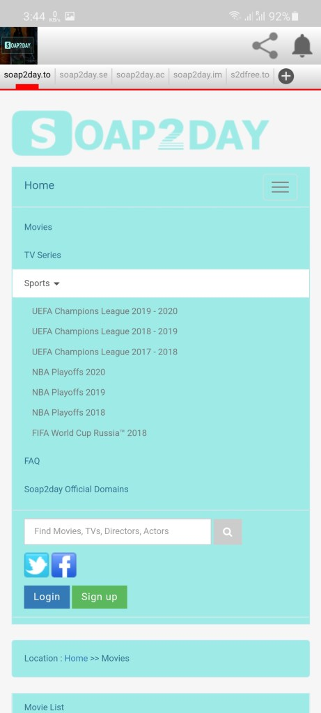 Screenshot of Soap2Day Download