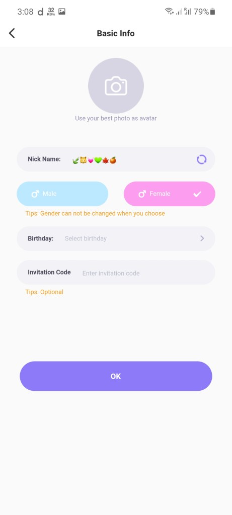 Screenshot of Meyo App