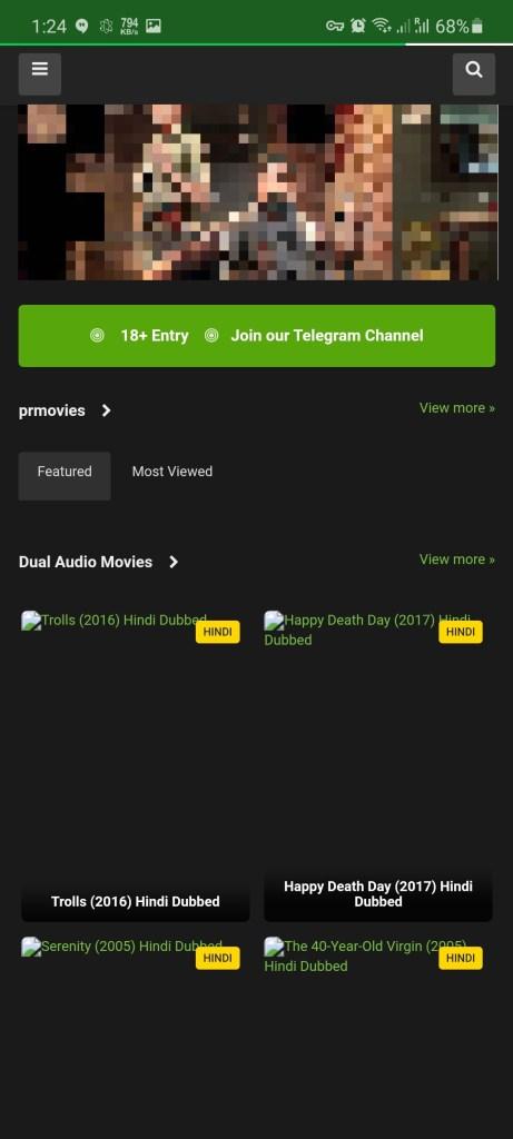 Screenshot of PRMovies App