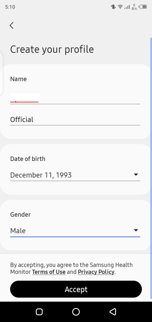 Screenshot of Samsung Health Monitor Mod