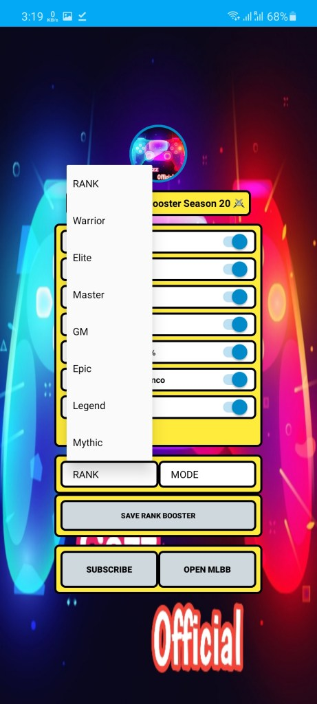 Screenshot of Rank Booster Cezz Official Android