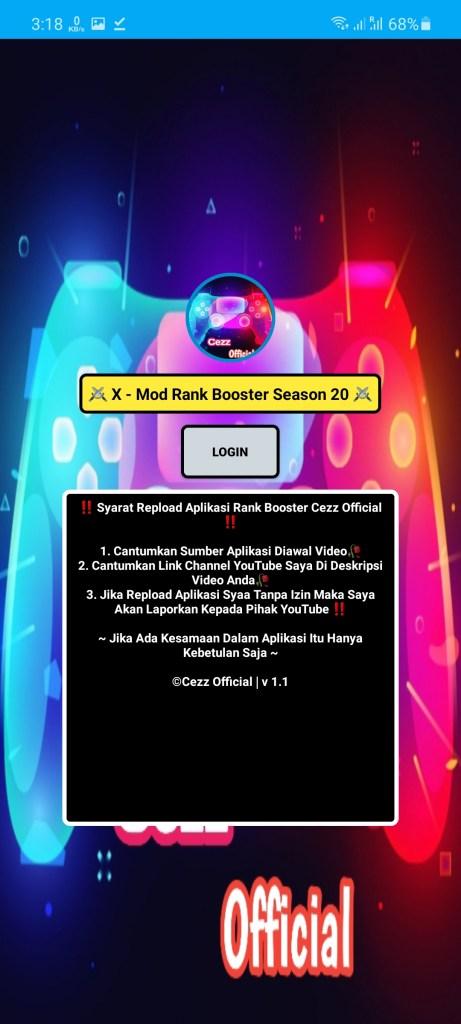 Screenshot of Rank Booster Cezz Official