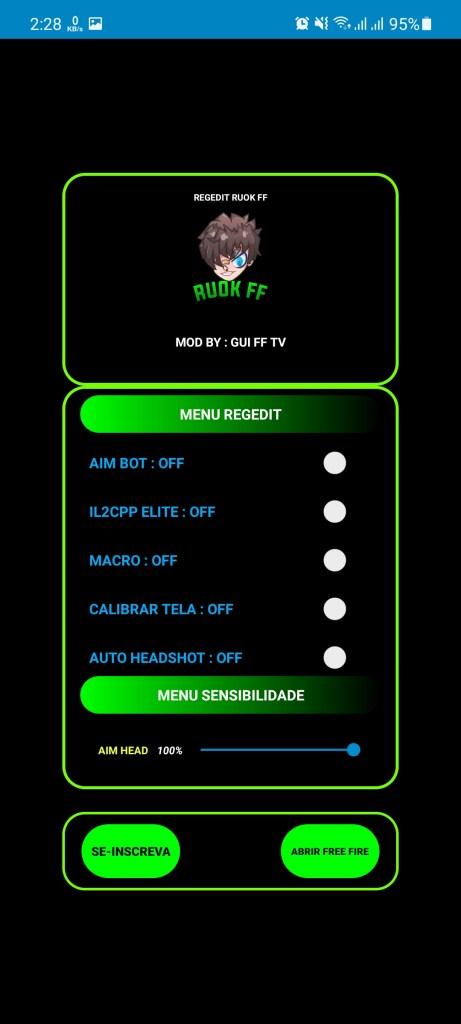 Screenshot of REGEDIT Macro Free Fire