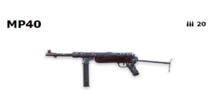 Screenshot of Top 5 Weapons Garena Free Fire MP40
