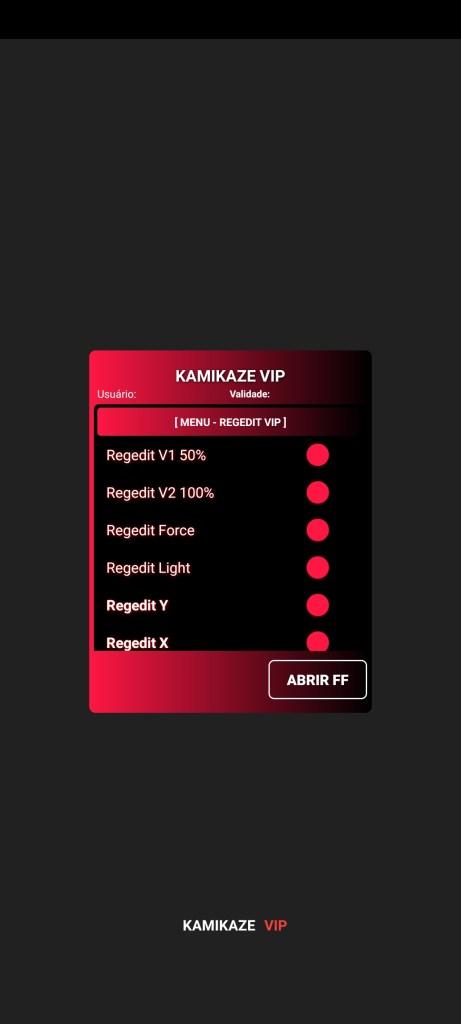 Screenshot of Regedit VIP App
