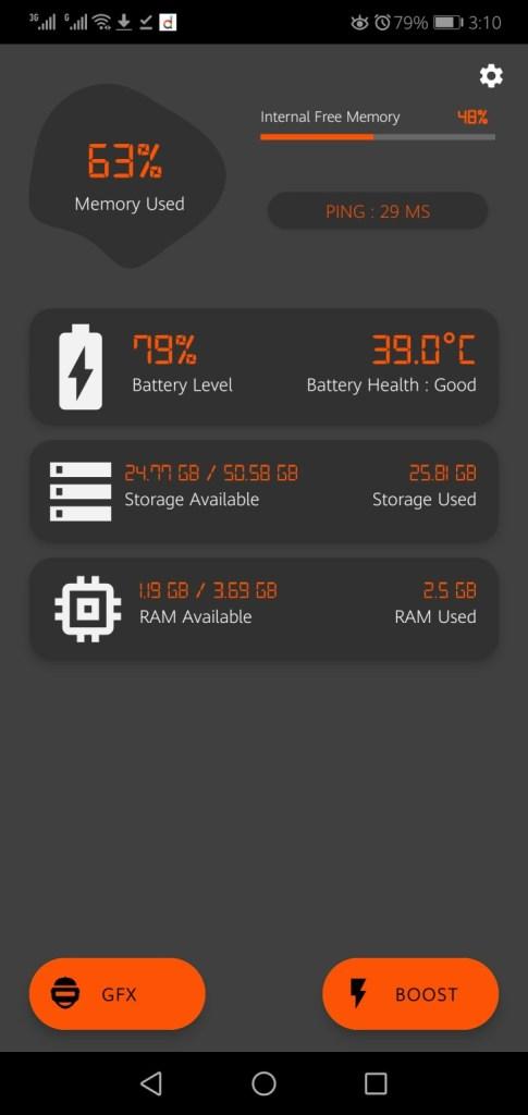 Screenshot of GFX Tool BGMI