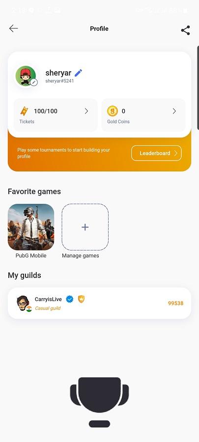 Screenshot of Game.TV App