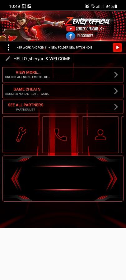 Screenshot of IZEN Patcher MLBB