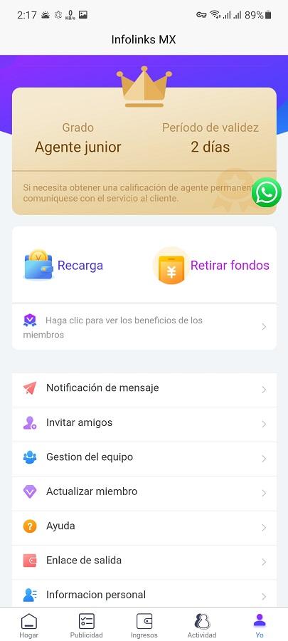 Screenshot of InfolinksMXApp