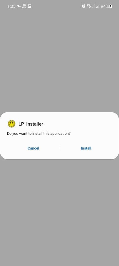 Screenshot of LP Installer Apk