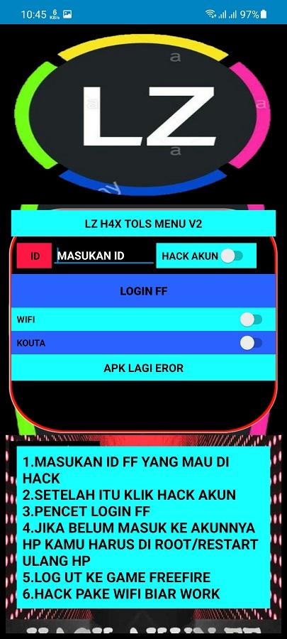 Screenshot of LZ Tools Menu v4