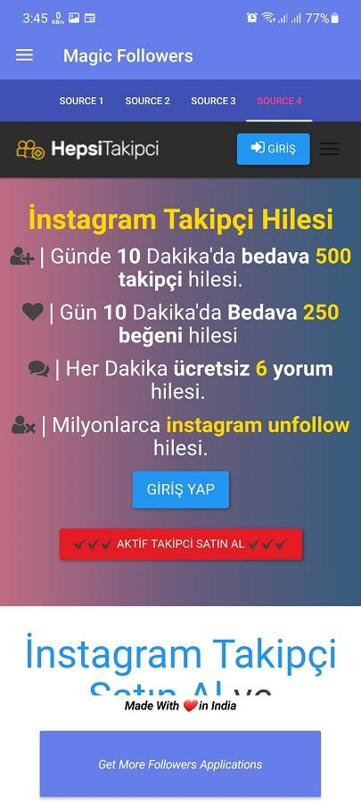 Screenshot of Magic Followers Download