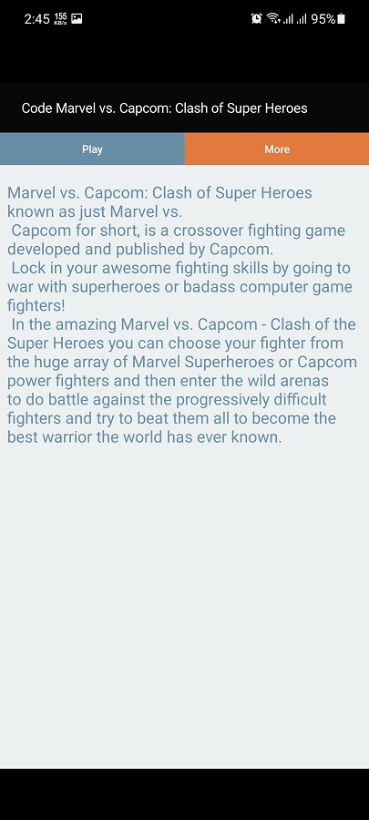 Screenshot of Marvel Vs Capcom