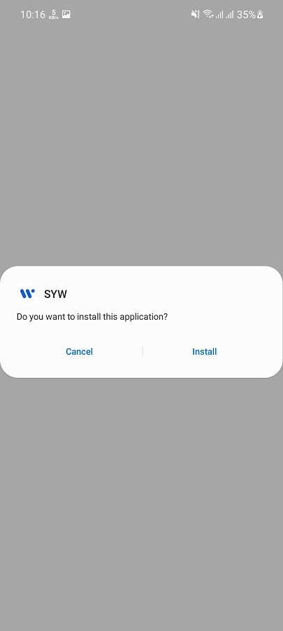 Screenshot of SYW