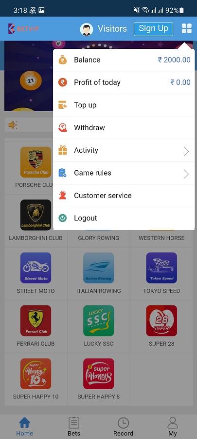 Screenshot of Bet VIP Android