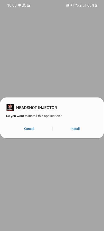 Screenshot of Headshot Injector
