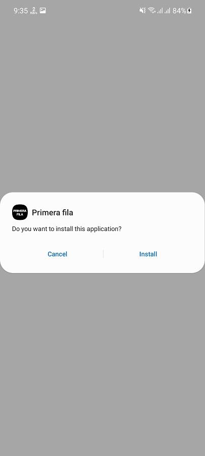 Screenshot of Primera Fila App