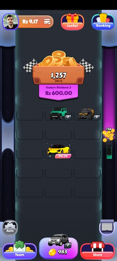 Screenshot of TopRich App