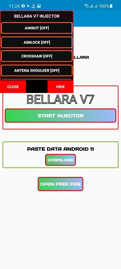 Screenshot of Bellara Injector FF