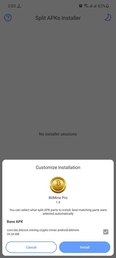 Screenshot of BitMine Pro