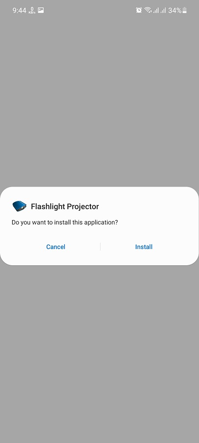 Screenshot of Flashlight Video Projector Apk